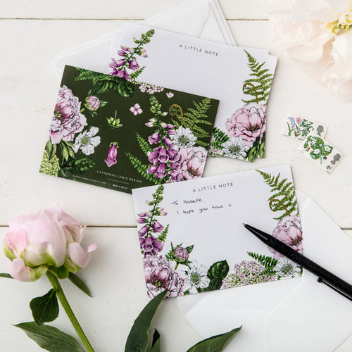 Summer Garden - Pack of 6 Notecards