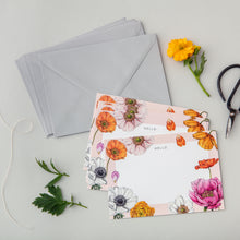 Load image into Gallery viewer, Floral Brights - Pack of 6 Notecards