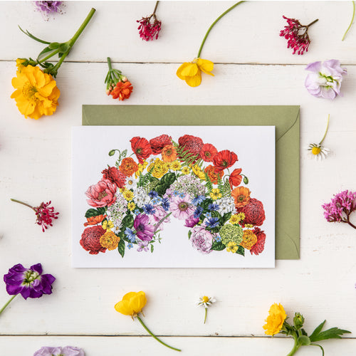 Botanical Rainbow - Greeting Card