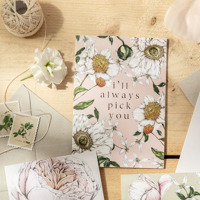 Spring Blossom 'I'll Always Pick You' Card