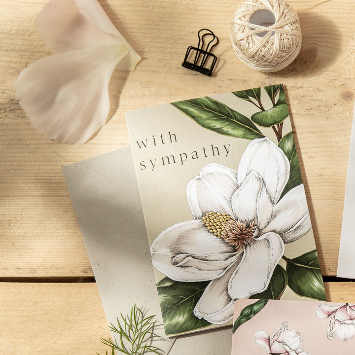 Spring Blossom 'With Sympathy' Card