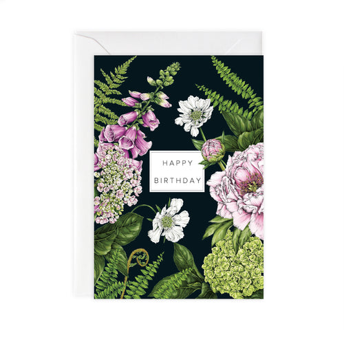 Summer Garden 'Happy Birthday' Card