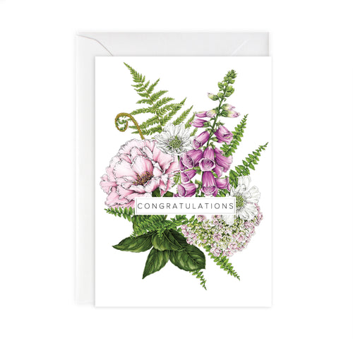 Summer Garden 'Congratulations' Card