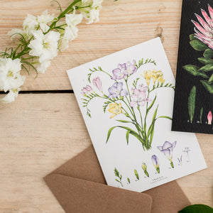Botanical 'Freesia' Species Card