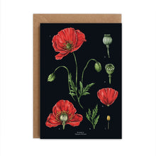 Load image into Gallery viewer, Botanical 'Poppy' Species Card