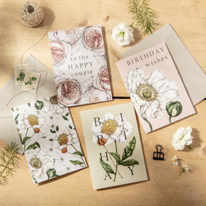 Spring Blossom White Card
