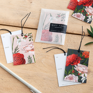 Christmas Gift Tags - Berry Roses Collection