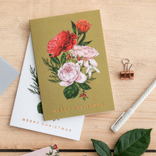 Load image into Gallery viewer, Berry Roses - Bunch - Green Christmas Card