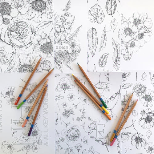 Botanical Colouring Pages