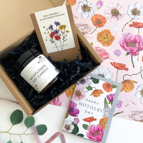 Mother's Day Gift Box - Wild Flower Soy Candle, Seeds & Card