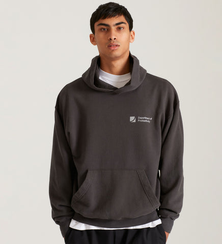 D.O.P HOODED SWEATSHIRT ANTHRACITE GREY
