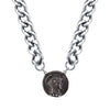 Chunk Chain Roman Necklace Silver