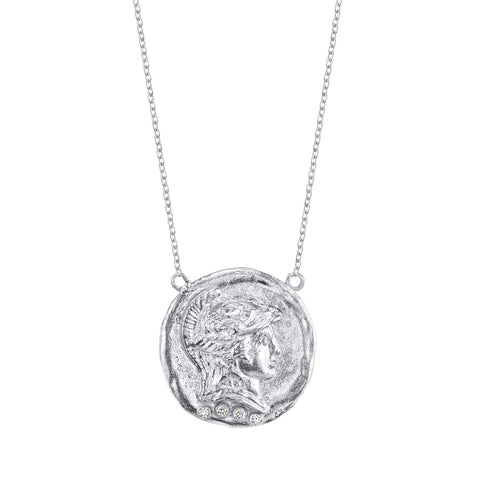 Silver Chunk Roman Necklace