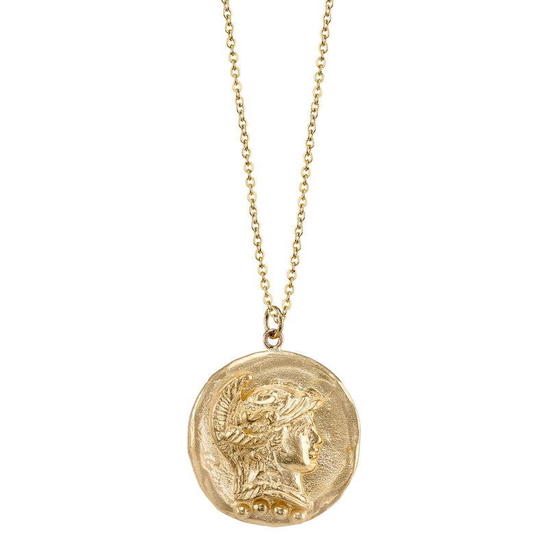 The Roman Token Necklace 14k Gold