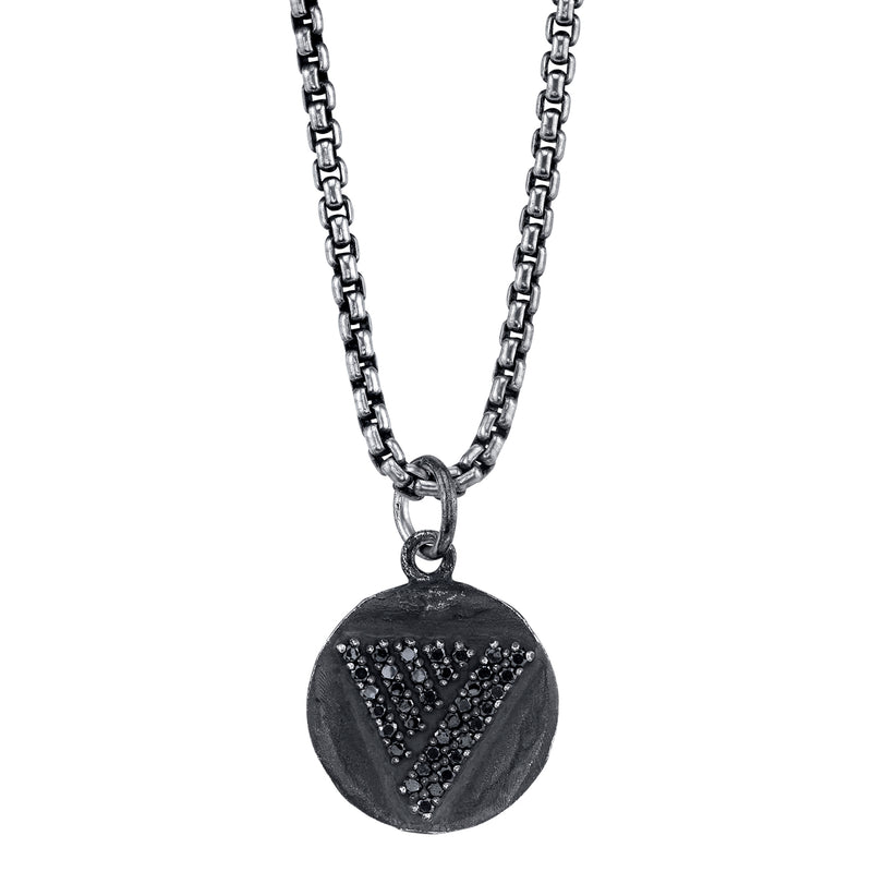 The Love Triangle Diamond Token Necklace