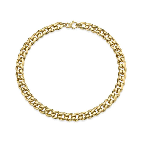 Roman Chunk Chain Bracelet 14k Gold Dipped with Diamonds