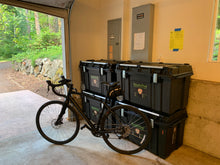 Load image into Gallery viewer, The core four trunks take up the same footprint as your favorite bicycle