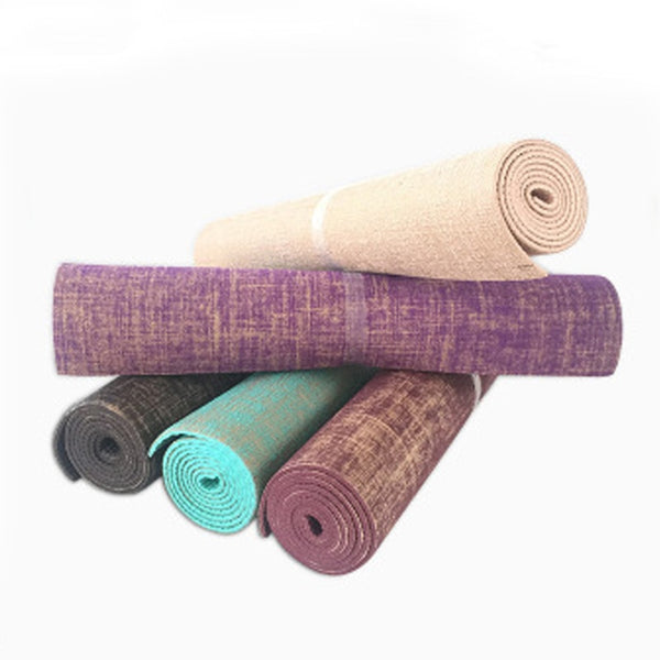 Tapis de Yoga en Lin naturel