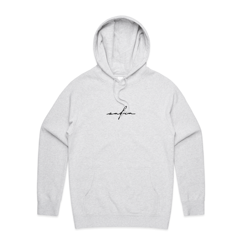 Embroidered Logo Hoodie (White Marle)