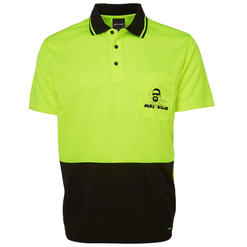 Mike Nolan Tradie Polo (Safety Yellow/Black)