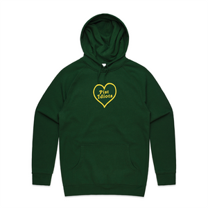 Embroidered Heart Hoodie (Forest Green)
