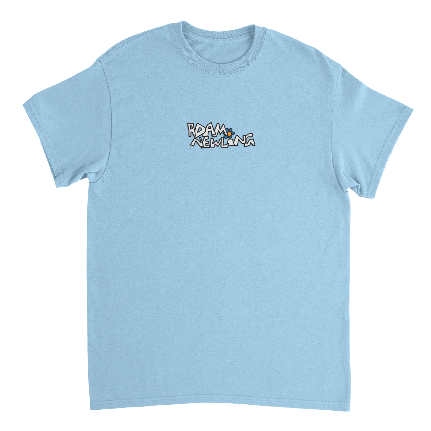 Embroidered Logo Tee (Light Blue)