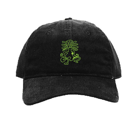 Corduroy Dad Cap (Green/Black)