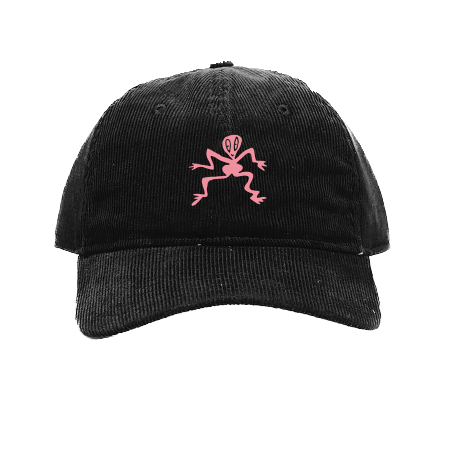 Corduroy Dad Cap (Pink/Black)