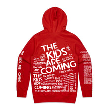 Load image into Gallery viewer, The Kids Are Coming All Over Print Hoodie (Red)