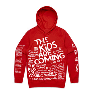 The Kids Are Coming All Over Print Hoodie (Red)