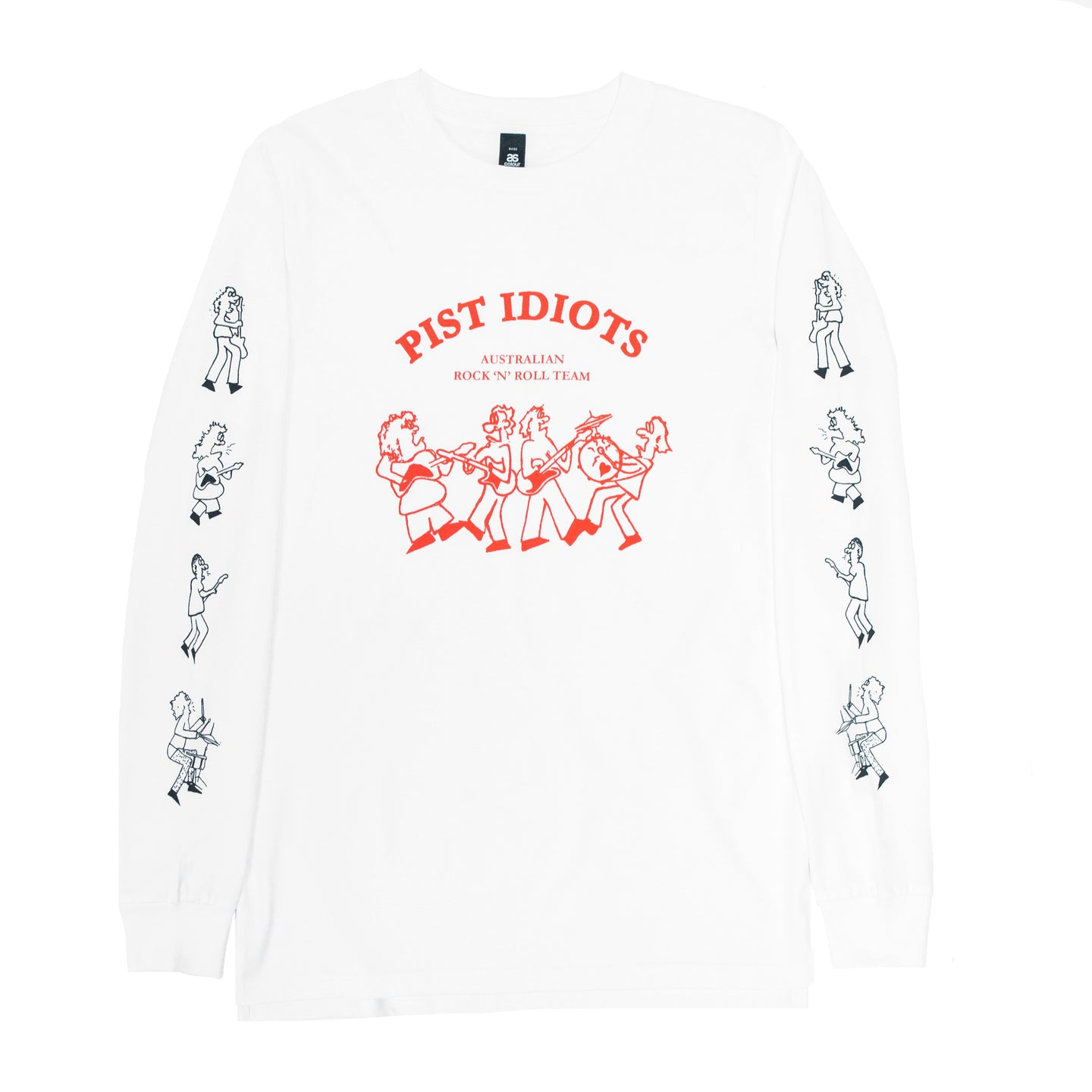 Rock n Roll Longsleeve White