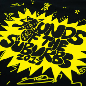 SOUNDS OF THE SUBURBS 2017 BLACK TEE