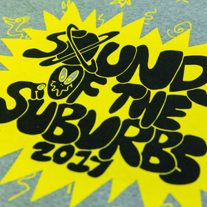 SOUNDS OF THE SUBURBS 2017 GREY TEE