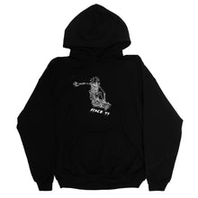 Load image into Gallery viewer, SKATE BLACK HOODIE