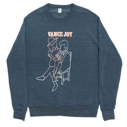 Nation of Two Crewneck (Navy)