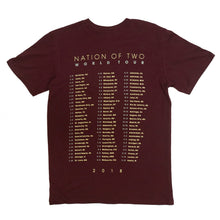 Load image into Gallery viewer, Nation Of Two Tour Tee (Maroon)