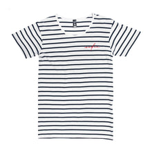 Load image into Gallery viewer, Safia Embroidered Striped Tee
