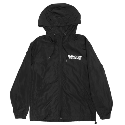 BLACK LOGO WINDBREAKER