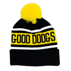 GOOD DOOGS BEANIE (BLACK/YELLOW)