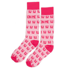 Load image into Gallery viewer, Lay It On Me Socks (Pale Pink/Pink)