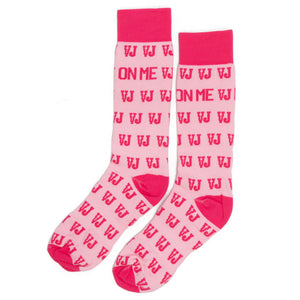 Lay It On Me Socks (Pale Pink/Pink)