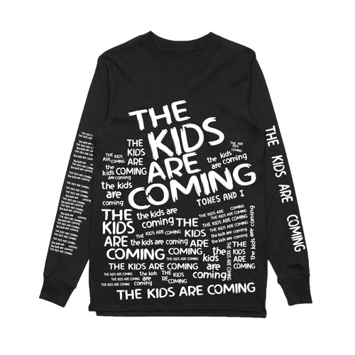 The Kids Are Coming All Over Print Long Sleeve (Black)