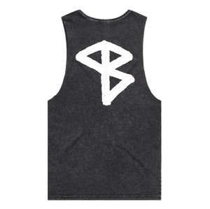Atlas Shoulders Sleeveless Tank (Black Stonewash)