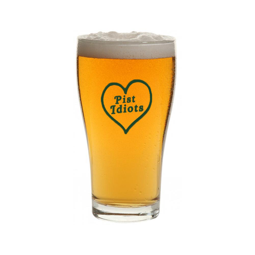 Green Heart Schooner Glass