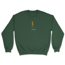Load image into Gallery viewer, Rose Embroidered Crewneck (Green)