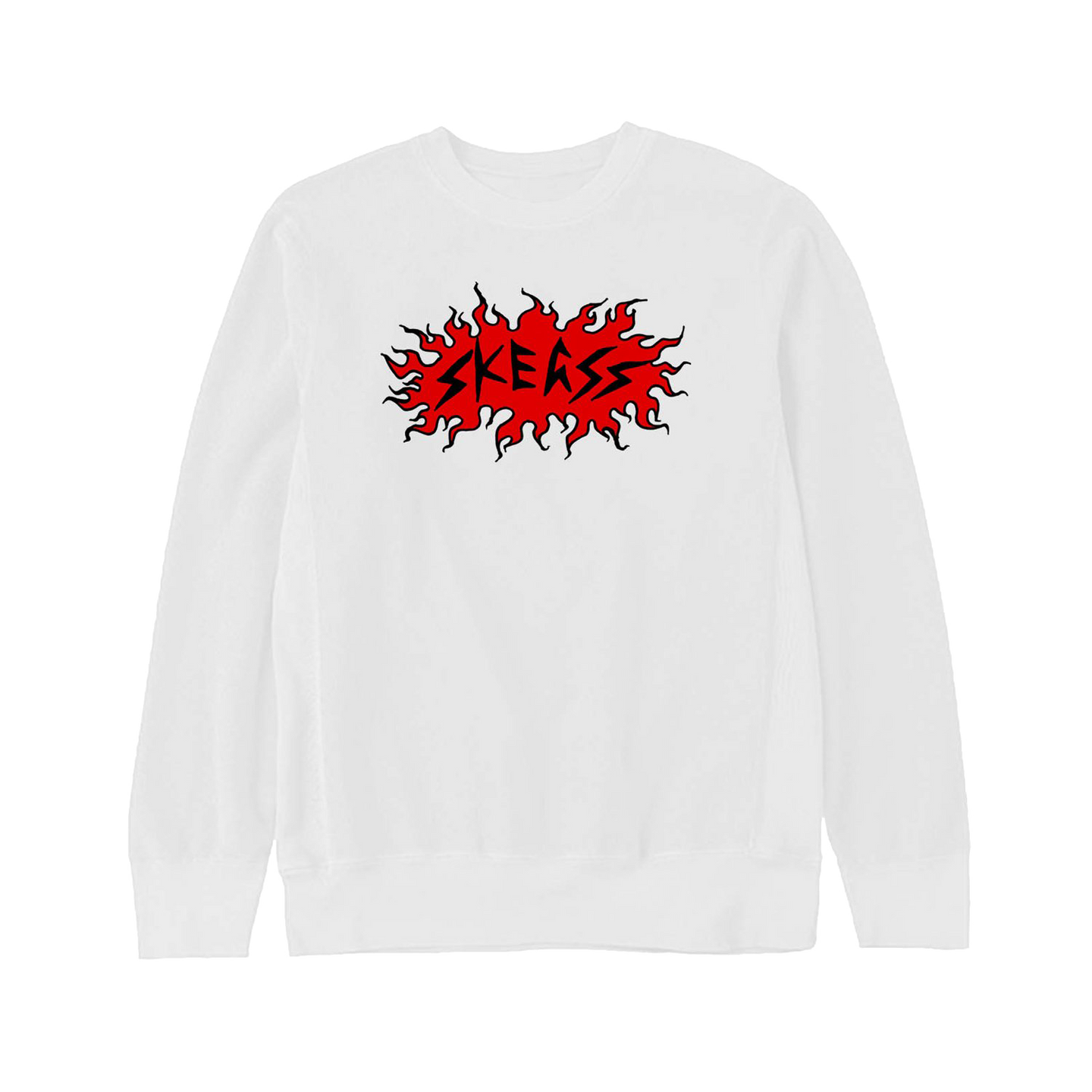 FLAME WHITE CREWNECK