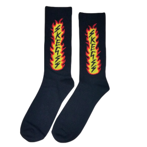 Black Flame Socks