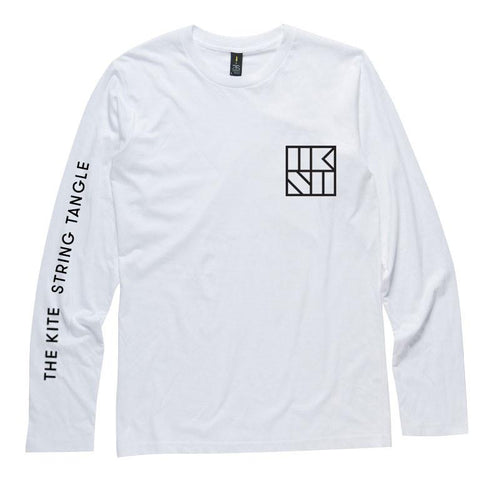 The Kite String Tangle Official Merch - TKST Pocket Logo Long Sleeve (White)