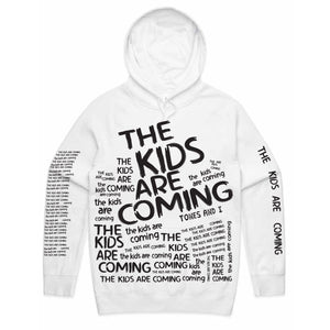 The Kids Are Coming All Over Print Hoodie (White)