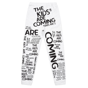 The Kids Are Coming All Over Print Sweatpants (White)